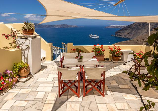 Cori Rigas Suites-Fira-Santorini-Terraces & Balconies with View