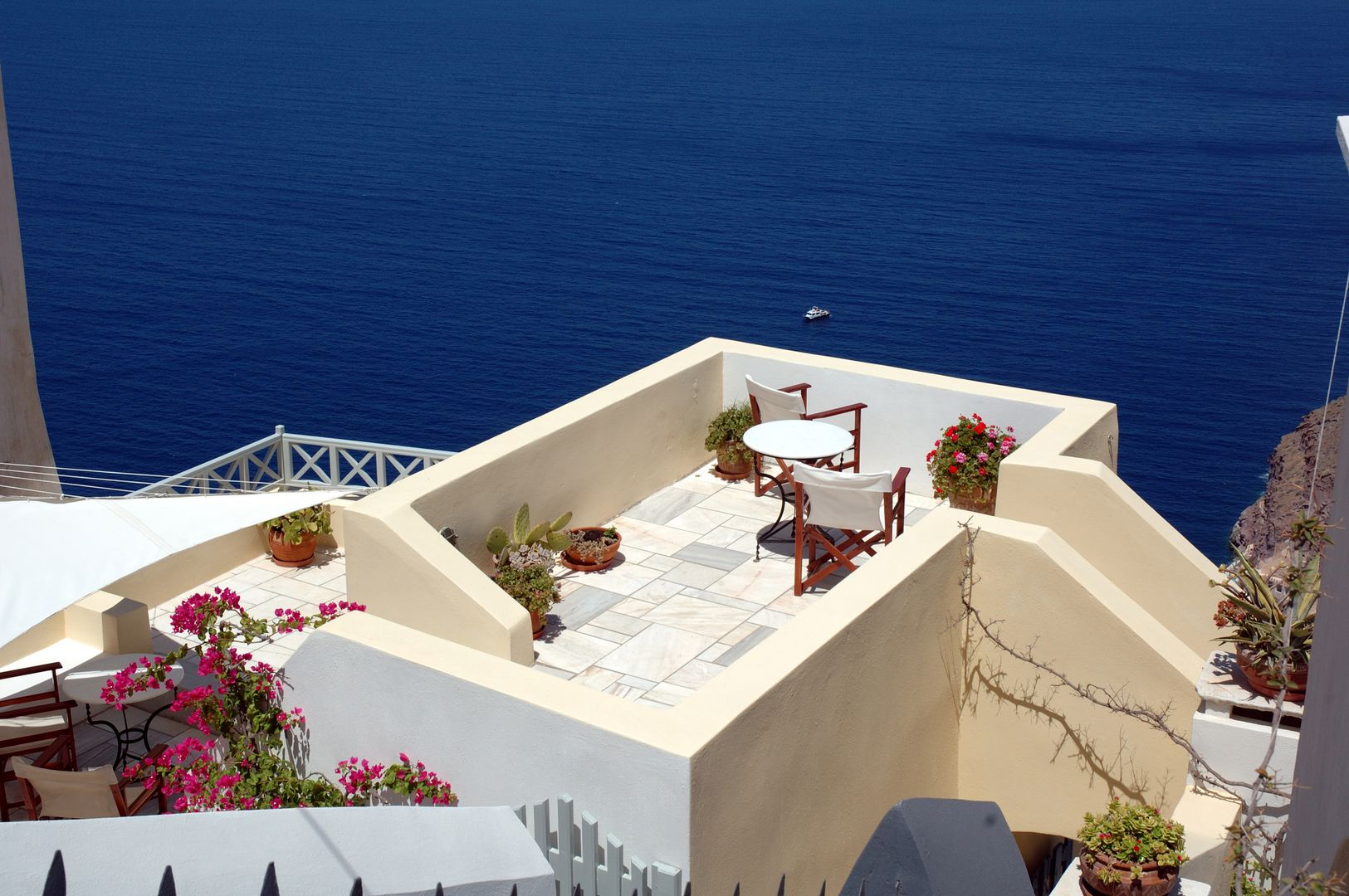 Cori Rigas Suites-Fira-Santorini-Terraces with view